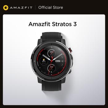 Смарт-часы Amazfit Stratos 3, глобальная версия, GPS 5 АТМ, Bluetooth, музыка, двойной режим, 14 дней работы, Смарт-часы для Android 2019