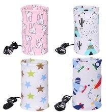 Cubierta de botella de lactancia para bebé, bolsa calefactora, taza de viaje USB, bolsa aislada, cubierta de botella de lactancia para bebé, bolsa calefactora