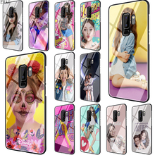 цена на EWAU Soy Luna Tempered Glass phone case for Samsung S7 Edge S8 S9 S10 Note 8 9 10 plus A10 20 30 40 50 60 70