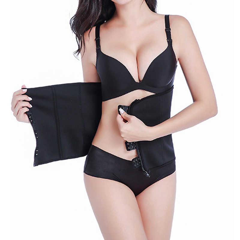 Cxzd cinto de treino feminino, formação de cintura cinchers zíper espartilho cinto fino sexy de emagrecimento da cintura