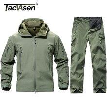 TACVASEN-uniformes tácticos para hombre, ropa militar de camuflaje, impermeable, pantalones de concha suave, chaquetas de forro polar, conjuntos de traje de Airsoft de asalto