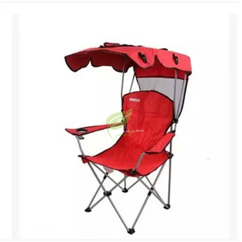 Comfort High Back Shade Folding Chair Four Seasons Courtyard Shade Chair With Canopy Carry Shade Canopy Chair Camping Stool