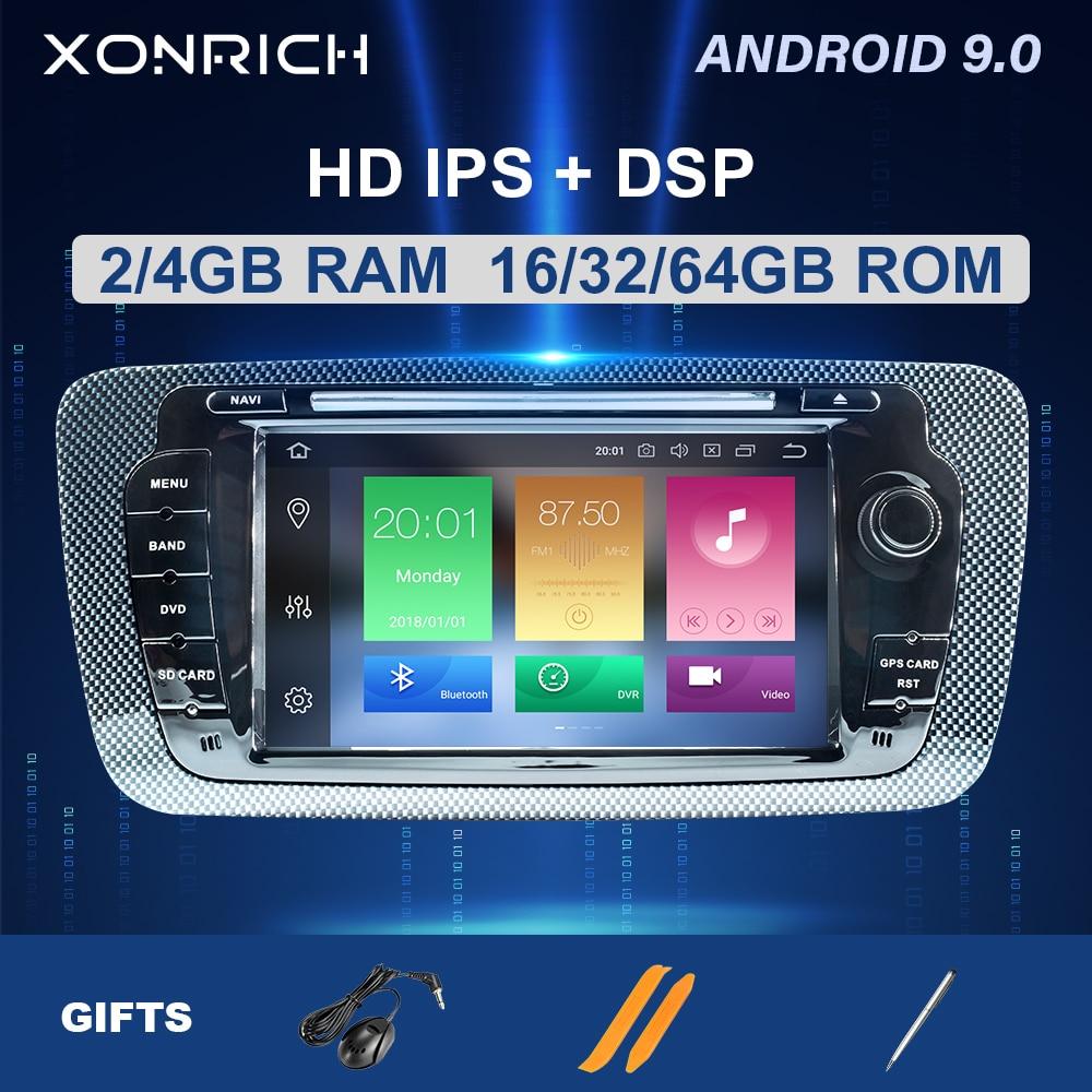 IPS DSP 64GB 2 Din Android 9 samochodów Multimedia radiowe dla Seat Ibiza 6J MK4 SportCoupe Ecomotive Cupra 2009-2013 GPS nawigacji DVD