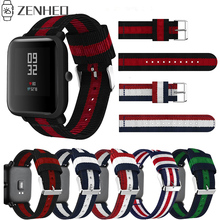 Nylon-Strap Amazfit Smart-Watch-Band Galaxy Watch 20mm Samsung for Xiaomi Huami Bip-Bit