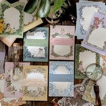 Journamm 15 sztuk śliczne elfy kwiaty Kawaii Deco papieru notatniki luźny liść notatnik pamiętnik kreatywne biuro szkolne notatniki