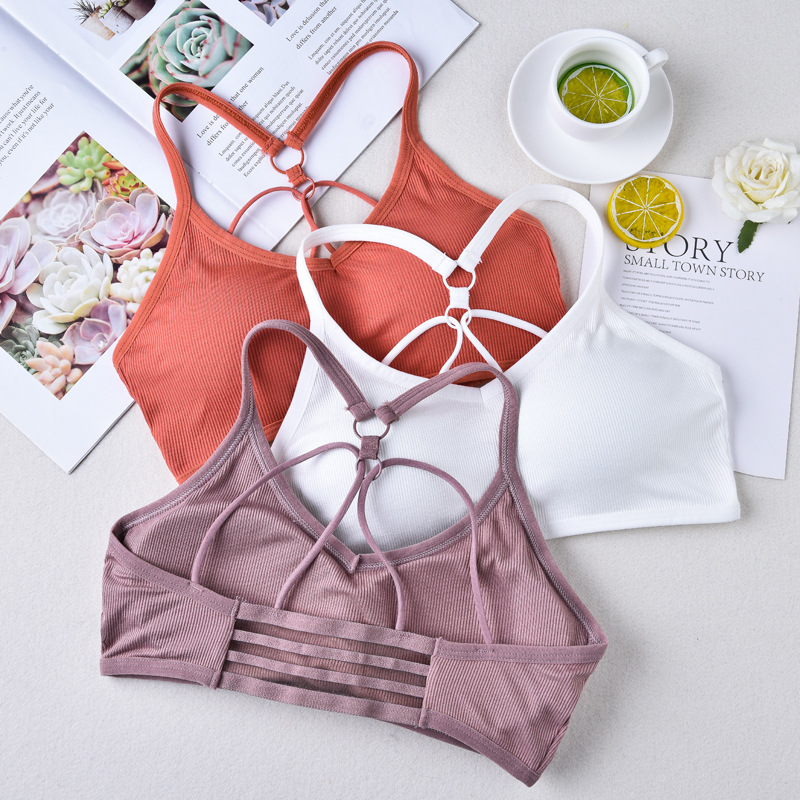 Women Sexy Bralette Seamless Bra Solid Color Crop Top Push Up Padded Bralette Comfortable Tube Top Wireless Lingerie