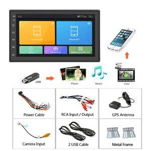 "Image 5 - Podofo אנדרואיד 2din רכב רדיו 7 ""מולטימדיה נגן Autoradio מגע מסך GPS WIFI Bluetooth רכב אודיו רדיו סטריאו מראה קישור"