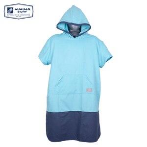 Image 5 - Ananas Surf Style Poncho plażowe szybko suszone Unisex mężczyźni kobiety zmień kombinezon szlafrok ręcznik z mikrofibry