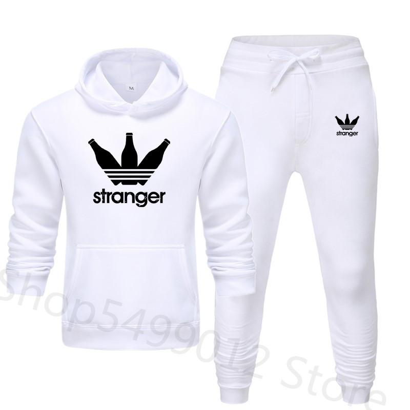 Men Sets 2020 Spring Set Men New Sportswear Autumn Clothes Printed Tracksuits Male Sweatshirts +Sweatpants Mens Sporting Track