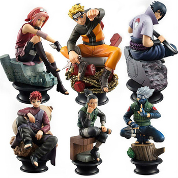 цена на 6pcs/set Naruto Action Figures Dolls Chess New PVC Anime Naruto Sasuke Gaara Model Figurines for Decoration Collection Gift Toys