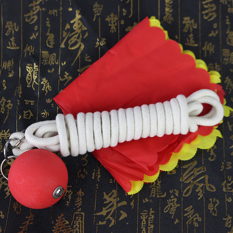 Meteor Hammer Bodybuilding Ball Double Ball Solid Rubber Elastic Force A Martial Art Apparatus Weapon Square Dance