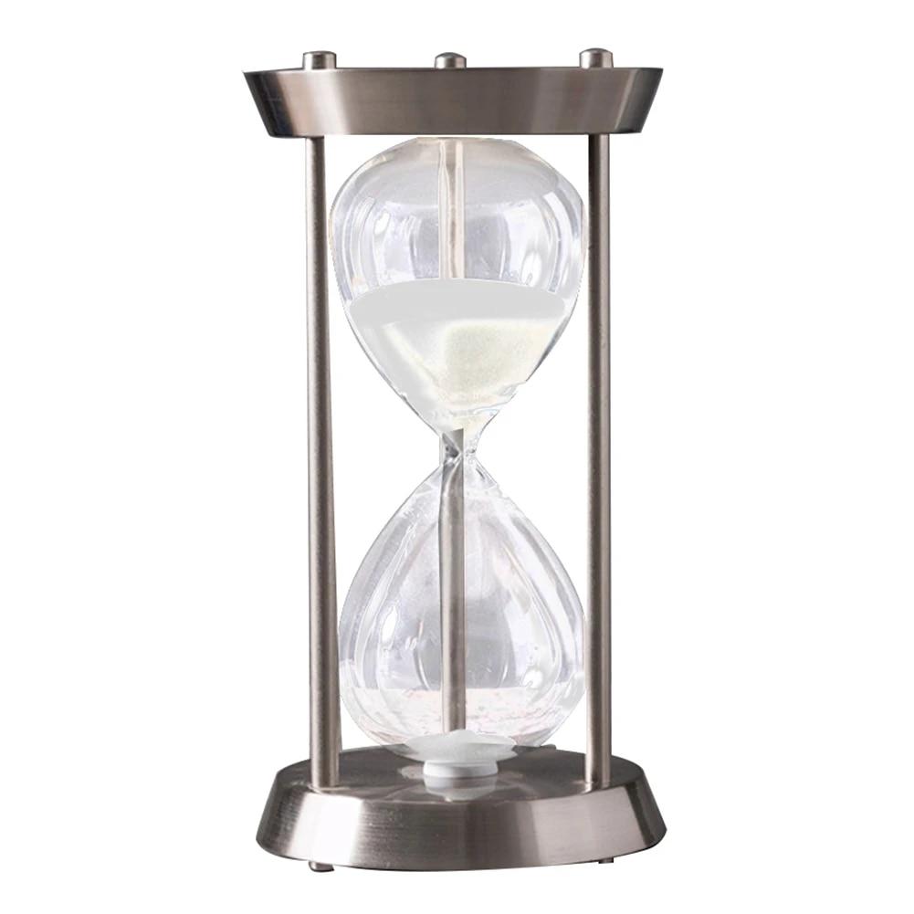 Multi Purpose Metal Timer Desktop Decoration Bathroom Hourglass Ornaments Tool