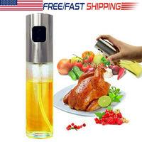 US Glass Oil Sprayer Olive Pump Spray Vinegar Bottle Mist Cooking Kitchen 100ml Glass Transparent Barbecue Spray Bottle
