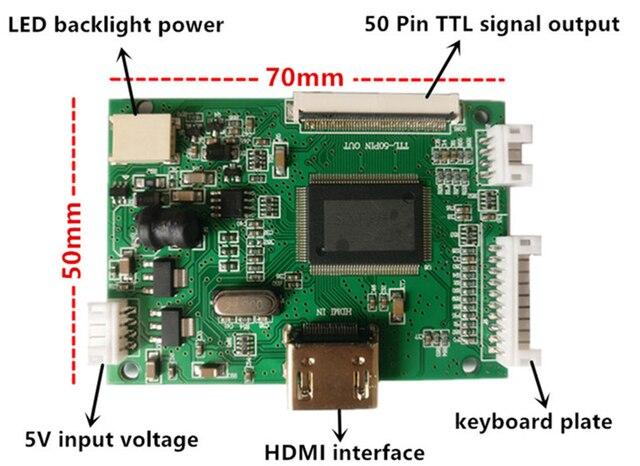 Pantalla LCD de 10,1 pulgadas 1024*600 HDMI con Monitor de placa de controlador para Mini ordenador Raspberry Pi Banana/Orange Pi