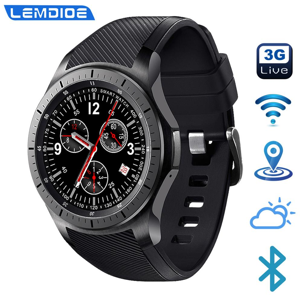 LF16 3G Smart Watch Android 5.1 GPS Heart Rate Monitor ROM 8GB Bluetooth WIFI Weather Update Independent Call Smartwatch For Men