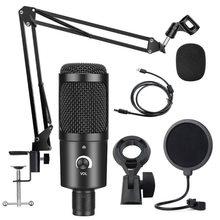 Bm 800 – kit de Microphone à condensateur USB, avec support, pour ordinateur, Studio de jeu, enregistrement, Youtube