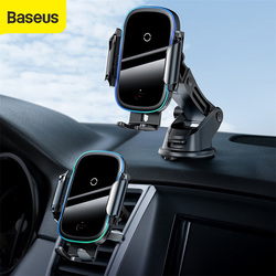 Baseus Car Phone Holder 15W Qi Car Wireless Charger Dual Mode Intelligent Car Mount for Air Outlet Wireless Car Phone Holder