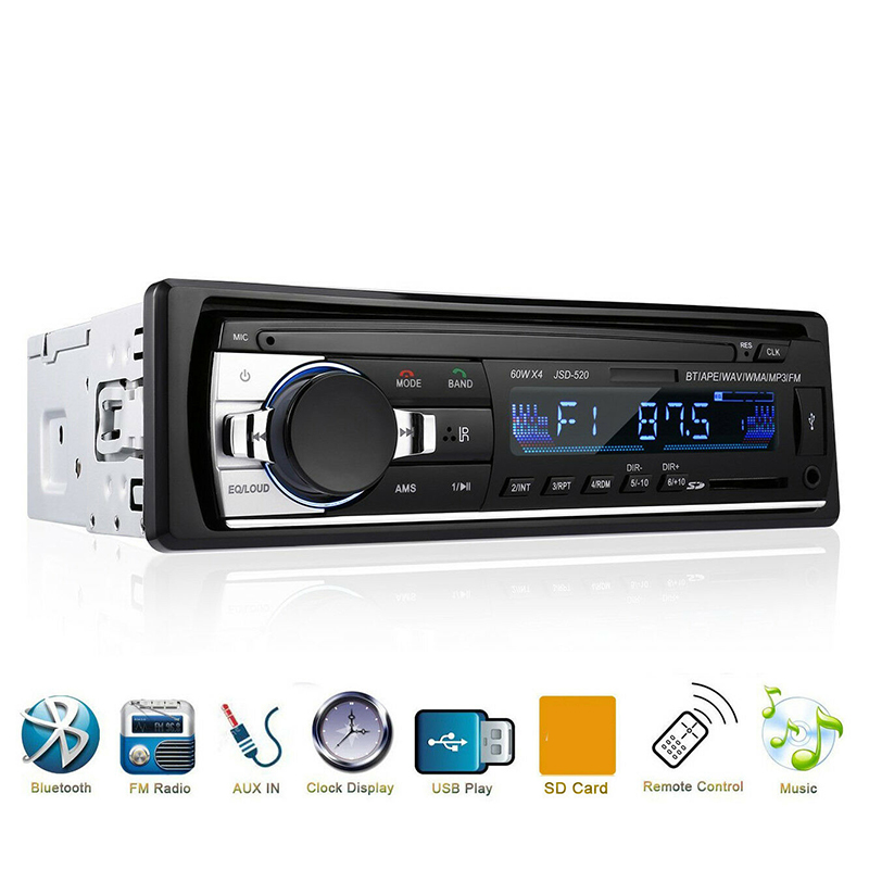 New <font><b>Bluetooth</b></font> <font><b>Autoradio</b></font> <font><b>Car</b></font> Stereo <font><b>Radio</b></font> FM Aux Input Receiver <font><b>SD</b></font> USB JSD-520 12V In-dash <font><b>1</b></font> <font><b>din</b></font> <font><b>Car</b></font> <font><b>MP3</b></font> Multimedia <font><b>Player</b></font> 2020 image