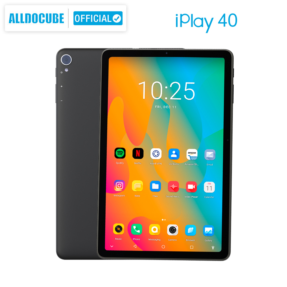 ALLDOCUBE iPlay40 tablette Android 10.0 2000*1200 IPS 8GB RAM 128G ROM une cellule Octa Core tablette PC double 4G lte BT5.0 CPU T618