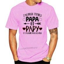 T-Shirt avec Deux Titres pour Papa Et Papy
