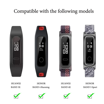Two-color soft silicone watch band For HONOR BAND 5 SPORT / Band 4 Running /For HUAWEI 3e 4e Replacement strap