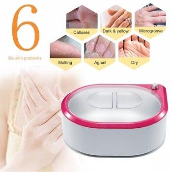 פרפין דוד מכונה אמבט עבור יד רגל חם חום טיפול עם כפפות ונעל רציף לחות לבן יד