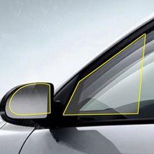 Film de protection Anti-buée pour rétroviseur de voiture, 2 pièces, Membrane Anti-éblouissement, étanche, pour fenêtre de moto, imperméable à la pluie, Auto transparent