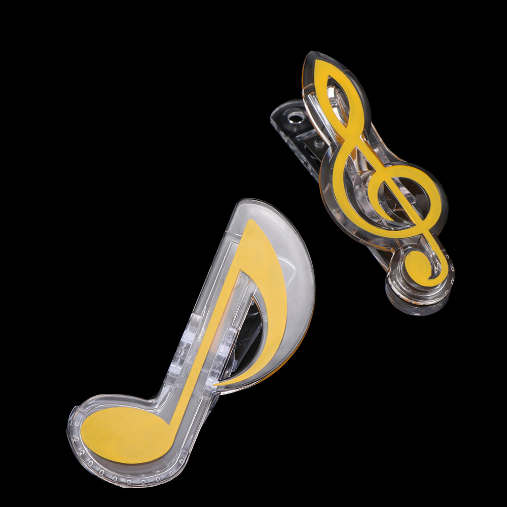 Novelty Musical Note Design Book Page Clips Kawaii Stationery Folder Photos Tickets Notes Letter Paper Clip