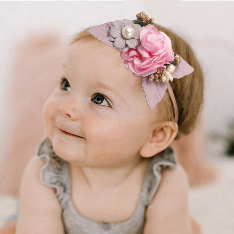 Style Girls Toddler Hair Band Baby Flower Headband Bowknot Fabric Headwear