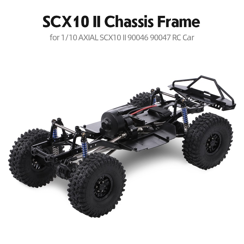RCtown 313mm 12.3-inch Wheelbase Assembled Frame Chassis For 1/10 RC Tracked Vehicles SCX10 SCX10 II 90046 90047
