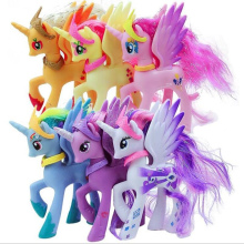 14cm PVC My little pony cute unicorn Rainbow little ponis horse action toy figures dolls for girl birthday christmas gift