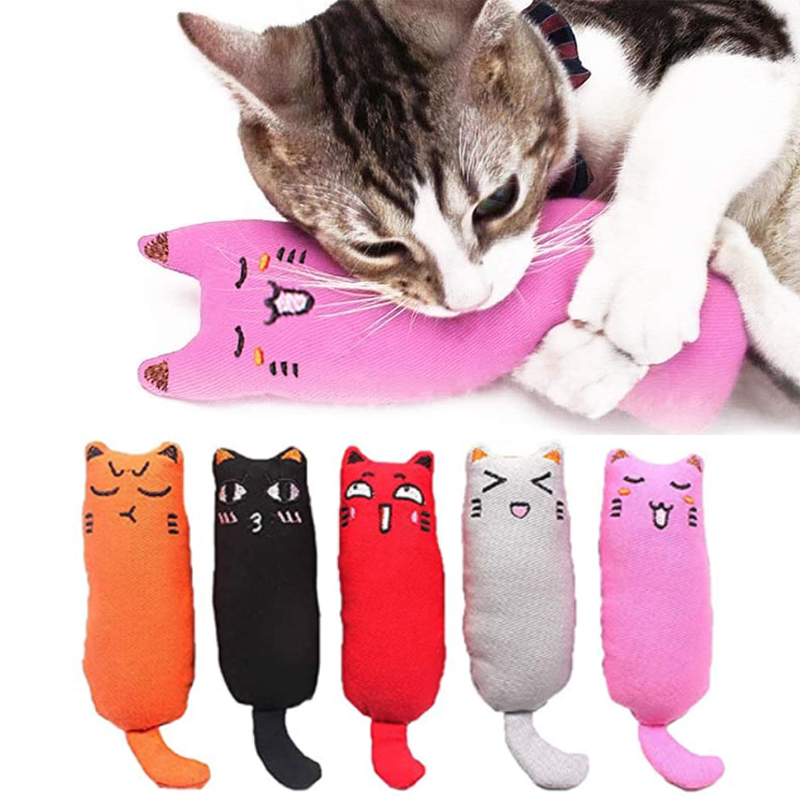 Juguete de hierba gatera con sonido de crujido para gatos, productos para mascotas, juguetes para gatos, dientes de molienda, almohada de felpa para pulgar, accesorios para mascotas