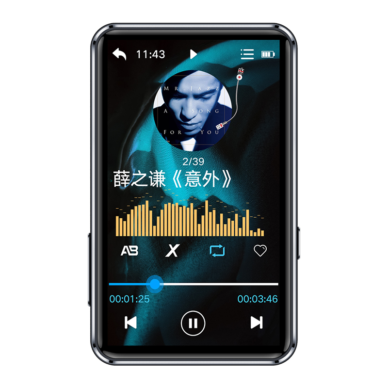 Lenovo BT5.0 Music MP3 Player MP4 EQ Customized 3inches 8GB Supprt TF Card IPS LRC 1080P