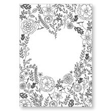 ZhuoAng Heart-shape Flowers Leaves Clear Stamps/Seals For DIY Scrapbooking/Card Making/Album Decorative Silicon Stamp Crafts
