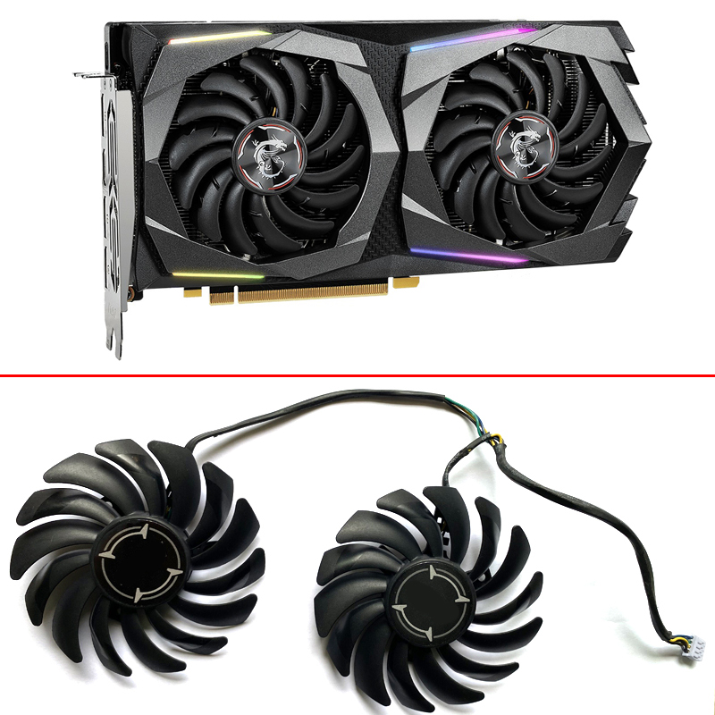 2PCS NEW 85MM PLD09210B12HH 4PIN PC Cooling Fan For MSI GeForce GTX 1660 SUPER GAMING GTX1660Ti GTX 1650 4G Video Card Fans
