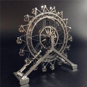 MMZ MODEL nanyuan 3D metal puzzle Ferris Wheel architecture DIY Assemble Model Kits Laser Cut Jigsaw toy gift(China)