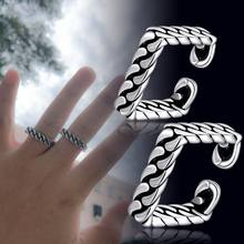1pair New Fashion Vintage Punk Square Infinity Couple Open Finger Rings Jewelry Christmas Gift Men Women Fine Jewelry Accesories