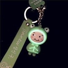 Keychain Frog Handbag Purse Pendant Key-Ring-Accessories Charm Glow Animal-Doll Duck-Sheep