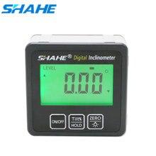 SHAHE alüminyum alaşım dijital İletki İnklinometre seviye kutusu dijital açı bulucu konik alt kutusu ile dahili mıknatıs