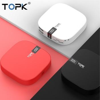 TOPK Mini Power Bank 10000mah Portable Charger Powerbank USB Type C External Battery Charger Poverbank for iPhone Xiaomi Huawei 1