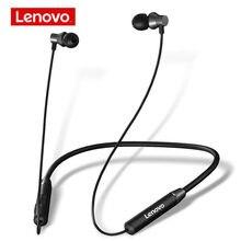 Беспроводные наушники Lenovo HE05, Bluetooth BT5.0, IPX5 водонепроницаемая Спортивная гарнитура, двойной стерео бас, Hi-Fi, музыка с микрофоном
