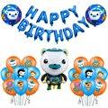Octonauts фольгированные воздушные шары Octopus Barnacles peskwazii, латексные шары, украшения для вечеринки в честь Дня Рождения, детские игрушки с морским...