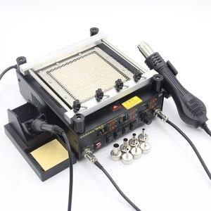 Image 3 - Gordak station de soudage numérique 3 en 1, pistolet à Air chaud, machine de retouche électrique BGA, fer à souder à infrarouge 863