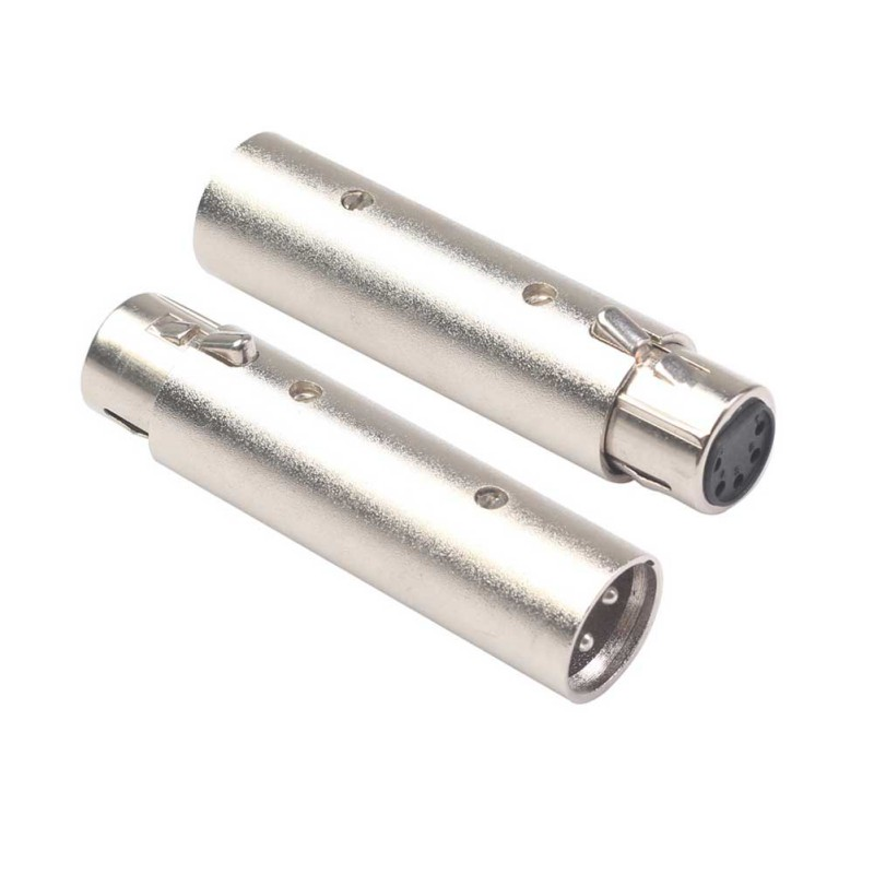 Converter 3 Pin XLR Male To 5 Pin XLR Female Connector Adapter For Camcorder DMX Signal Light