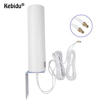 Kebidu 4G LTE antena 12Dbi 3G antena antena zewnętrzna 4G antena zewnętrzna podwójny suwak CRC9 TS9 SMA 5M złącze Router modemu tanie i dobre opinie bundwin CN (pochodzenie) 10-12dBi 3G 4G external antennna outdoor