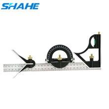 Shahe 새로운 300 mm 스테인레스 스틸 다기능 각도 눈금자 조합 사각형 각도 눈금자 측정 도구 각도 게이지