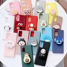 3D Cartoon Phone Holder Case For OPPO A9 A5 2020 A92 A52 A72 A91 A11X A1K Find X2 F11 Pro A7 Cover Soft Silicone TPU Stand Case