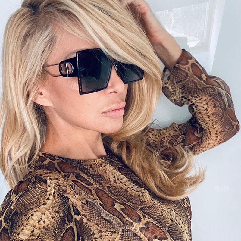 Fashion Sunglass Designer Square Sunglasses Women Vintage Oversized 2021 trend Female Sun Glasses Shades For Women (6)
