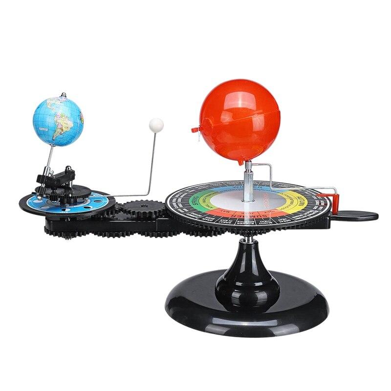 Aletler'ten Teodolitler'de Güneş sistemi küre güneş dünya ay Orbital Planetarium modeli öğretim aracı eğitim astronomi Demo öğrenci çocuk oyuncağı title=