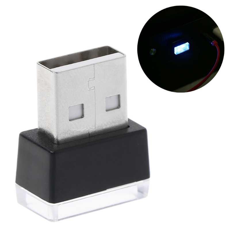 Luces de la atmósfera del coche LED Mini USB encendedor luces decorativas lámpara